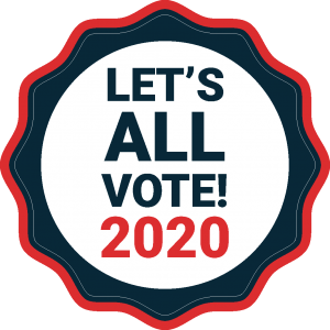 let's all vote badge-2020