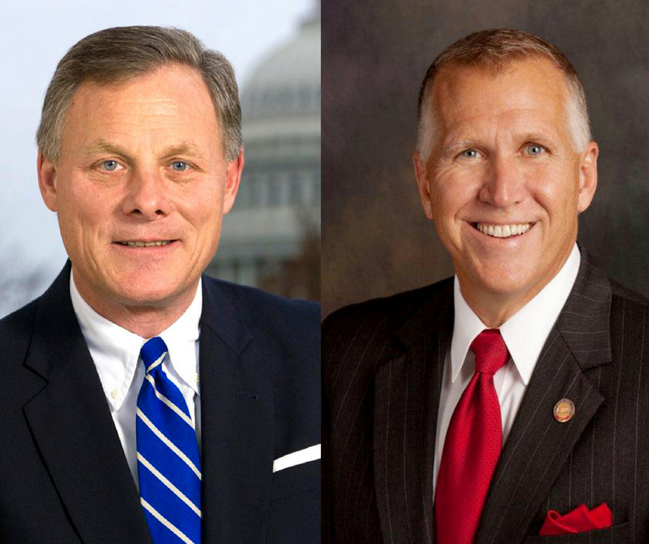 Photos of Senators Richard Burr and Thom Tillis